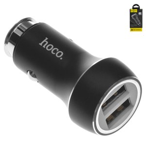 Автомобільний зарядний пристрій Hoco Z7, 2 USB виходи 5В 2,4А , чорне