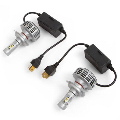 Car LED Headlamp Kit UP 6HL H4, 3000 lm, CAN bus compatible