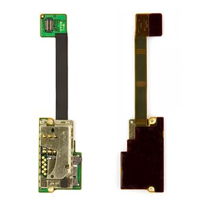 SIM Card Connector for Nokia E90 Cell Phone, (with memory card connector, with flat cable)