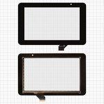 "Touchscreen for China-Tablet PC 7""; Prestigio MultiPad 7.0 HD (PMP3970B), MultiPad 7.0 HD (PMP5570С) Tablets, (7"", 118 mm, 191 mm, 30 pin, capacitive, black) #ACE-CG7.0A-249/GKG0362A/GKG0469A"