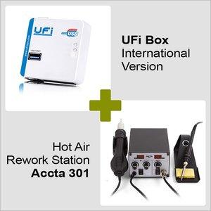 UFI Box International Version + Hot Air Rework Station Accta 301 (220V)