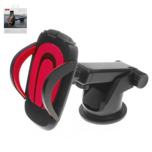 Car Holder XO C3, (red, black, suction cup, sliding)