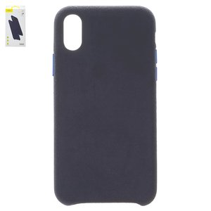 Case Baseus compatible with iPhone X, iPhone XS, (dark blue, Super Fiber, plastic) #WIAPIPH58-YP03