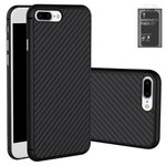 Case Nillkin Synthetic fiber compatible with iPhone 8, (black, without logo hole, Ultra Slim, plastic) #6902048147881
