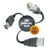 Juego de cables para servicio de celulares LG con ayuda de Z3X-Box (24 uds.)