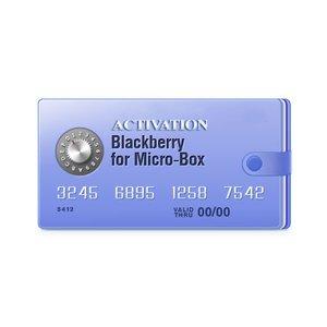 Micro-Box активация для разблокировки BlackBerry