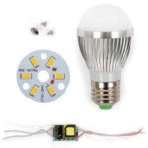 Комплект для збирання світлодіодної лампи SQ-Q01 5730 3 Вт (теплий білий, E27)