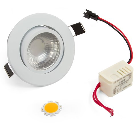 LED Downlight DIY Kit COB 3 W warm white